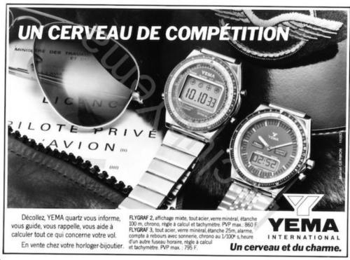 Publicité YEMA 198? | Un cerveau de compétition ; Agence Marcel Germont ;YEMA Flygraf ESA 900 231 et Modutek