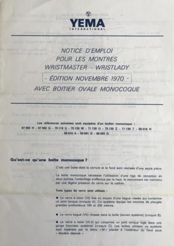 YEMA Wrismaster monocoque_Notice emploi_p1de4