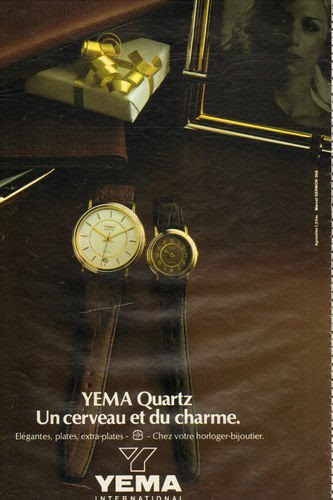 Publicité YEMA 1981 (?) | Un cerveau et du charme ; citadines or