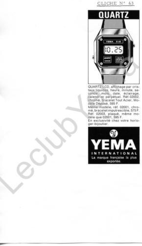 Publicité YEMA 197? | Encart Presse ; Fairchild Quartz LCD 02002