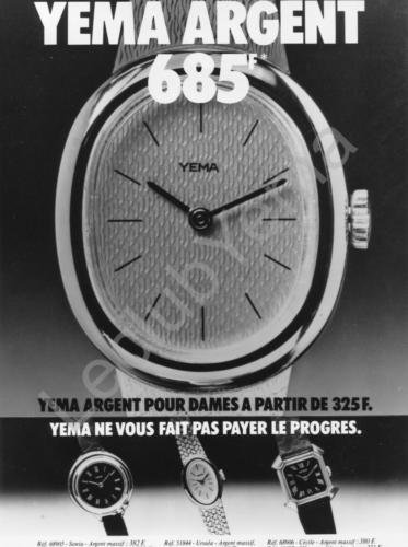 Publicité YEMA 197? | XXXF ; YEMA Argent ; Modèles femme