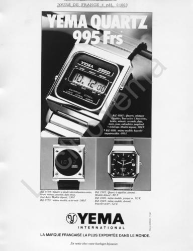 Publicité YEMA 197? | XXX Frs ; YEMA FAIRCHILD