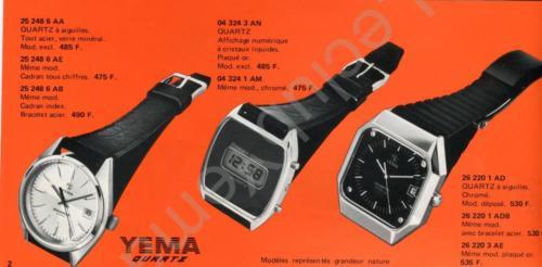 Collection YEMA Quartz 1978. P.2/3