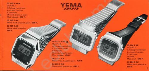 Collection YEMA Quartz 1978. P.3/3