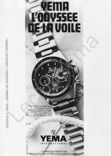 Publicité YEMA | Campagne Odyssée Yachtingraf
