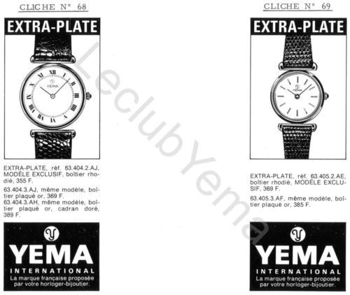 Publicité YEMA 197? | Encart Presse ; Modèles féminins Extra Plate