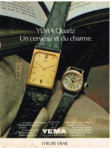 Publicité YEMA 1980 (?) | Une cerveau et du charme ; citadines