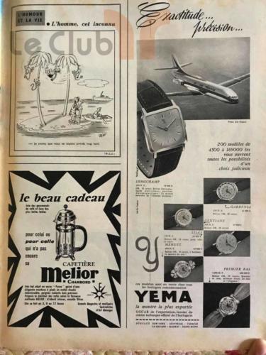 publicité Yema decembre 59