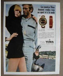 Publicité Yema 1969 | Paris Match et ELLE ; RDV Sport et Mode ; YEMA Meangraf